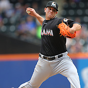 Pitcher Jose Fernandez, Miami Marlins, pitching during the New York Mets V Miami Marlins, Major League Baseball game which went for 20 innings and lasted 6 hours and 25 minutes. The Marlins won the match 2-1. Citi Field, Queens, New York. 8th June 2013. Photo Tim Clayton