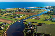 Lake Sagaponack, Aerial, NY,  20x30 inches archival gicleé canvas signed $700