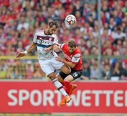 Football: Germany, 1. Bundesliga, SC Freiburg - FC Bayern Muenchen, Freiburg - 16.05.2015,<br /> Mehdi Benatia (Muenchen) - Admir Mehmedi (Freiburg)<br /> <br /> &copy; pixathlon<br /> <br /> +++ NED out !!! +++