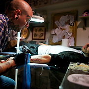 As part of a project for Converse these images were taken at The Circle tattoo studio in Central London