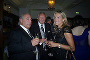 SIR PHILIP GREEN; HAROLD TILLMAN; MRS. TILLMAN. Vogue's Celebration of Fashion Dinner in association with Creme de la Mer. the Albermarle, Browns Hotel. Albermarle st. London. 18 September 2008. *** Local Caption *** -DO NOT ARCHIVE-© Copyright Photograph by Dafydd Jones. 248 Clapham Rd. London SW9 0PZ. Tel 0207 820 0771. www.dafjones.com.