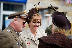 Civilian and Military Reenactors taking part in the Pickering 1940s war weekend  October 2009 Image Copyright Paul David Drabble