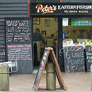 Traditional fishshop in Hastings, East Sussex, England
