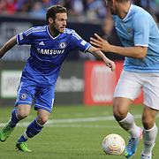 Juan Mata, Chelsea, in action during the Manchester City V Chelsea friendly exhibition match at Yankee Stadium, The Bronx, New York. Manchester City won the match 5-3. New York. USA. 25th May 2012. Photo Tim Clayton