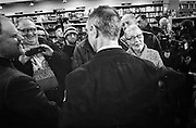 Concord, NH,  Friday, March 6, 2015: Martin O'Malley, back to camera center, the former Maryland governor who is likely to seek the Democratic nomination for president in 2016, answers voters questions about his presidential aspirations during a meet and greet at Gibson's Bookstore. CREDIT: Cheryl Senter for The Boston Globe