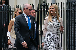 © Licensed to London News Pictures. 04/06/2019. London, UK. United States Ambassador to the United Kingdom Woody Johnson and Ivanka Trump arrive in Downing Street as The President of the United States of America Donald Trump and First Lady of the United States of America Melania Trump meet British Prime Minister Theresa May (not pictured) as part of Trump's state visit to the United Kingdom. Photo credit : Tom Nicholson/LNP