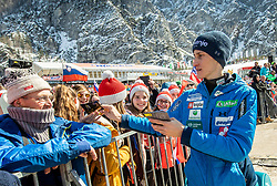 Peter Prevc (SLO) with his supporters during the Trial Round of the Ski Flying Hill Individual Competition at Day 1 of FIS Ski Jumping World Cup Final 2019, on March 21, 2019 in Planica, Slovenia. Photo by Vid Ponikvar / Sportida