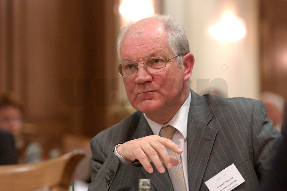 29 MAR 2004, BERLIN/GERMANY:<br /> Werner Dornisch, Mitglied im Vorstand Diehl stiftung &amp; Co. KG, Berliner Agenda, Hotel Palace<br /> IMAGE: 20040329-01-121