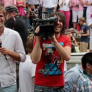 NLD/Amsterdam/20110806 - Canalpride Gaypride 2011, camerman Jaap
