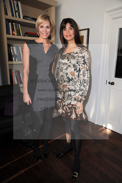 Left to right, JENNI FALCONER and LISA BILTON at a breakfast hosted by Bobbi Brown - the cosmetics company held at Morton's, 28 Berkeley Square, London on 8th December 2009.