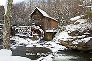 67395-04203 Glade Creek Grist Mill in winter, Babcock State Park, WV