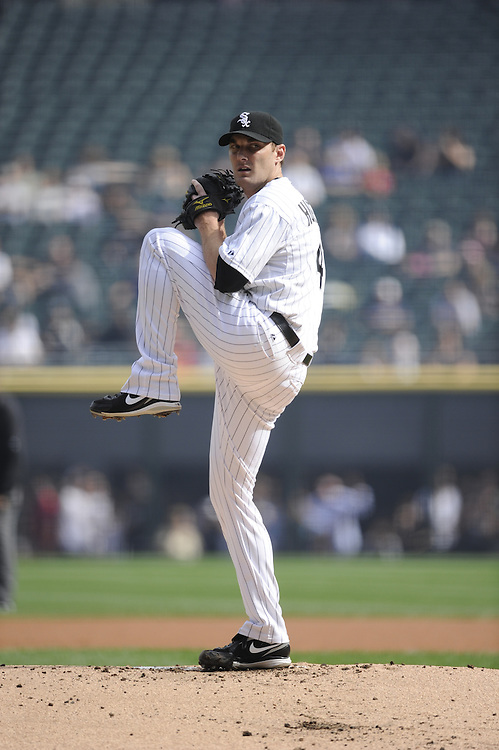 CHICAGO - SEPTEMBER 10:  Philip Humber #41 of the Chicago White Sox pitches against the Cleveland Indians on September 10, 2011 at U.S. Cellular Field in Chicago, Illinois.  The White Sox defeated the Indians 7-3.  (Photo by Ron Vesely)   Subject: Phil Humber