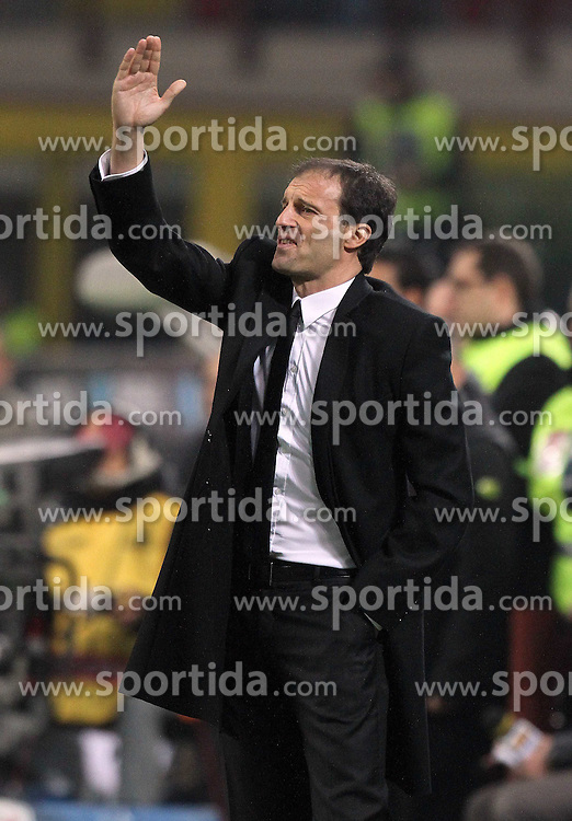 10.11.2010, Stadio di S Siro, Mailand, ITA, Serie A, AC Mailand vs US Palermo, im Bild L'allenatore del Milan MASSIMILIANO ALLEGRI during the Italian Serie A Championship matches AC Mailand vs US Palermo at the San Siro stadium in Milan on 10/11/2010. EXPA Pictures © 2010, PhotoCredit: EXPA/ InsideFoto/ Alberto Camici +++++ ATTENTION - FOR AUSTRIA AND SLOVENIA CLIENT ONLY +++++