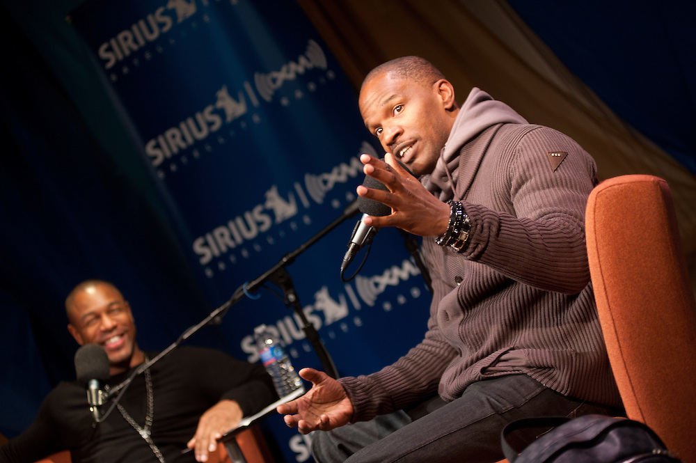 "Washington, DC, December 16, 2010 - Jamie Foxx stops by Sirius XM's 1500 Eckington facility to discuss life, music, and his new album ""Best Night of My Life""."