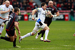Francois Louw attacks for Bath. Stade Toulousain v Bath, European Champions Cup 2015, Stade Ernest Wallon, Toulouse, France, 18th Jan 2015.