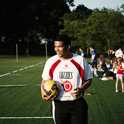 Pelham Manor, NY. June 2010, 18. The New York Athletic Club is hosting the Street Soccer NYC team for an 11v11 game. This event is an example of SSNYC's ability to bring together different communities through their passion for soccer. (Photo by Antoine Doyen)