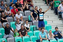 Supporters of NK Olimpija during football match between NK Olimpija Ljubljana and ND Gorica in Round #29 of Prva liga Telekom Slovenije 2017/18, on April 29, 2018 in SRC Stozice, Ljubljana, Slovenia. Photo by Urban Urbanc / Sportida
