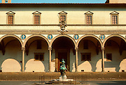 ITALY, FLORENCE the Foundling Hospital designed by the Renaissance architect Brunelleschi in the 15th C; now an art gallery