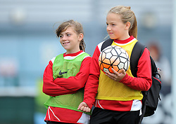 Ball girls at Stoke Gifford Stadium for Bristol City Women v Durham Ladies - Mandatory by-line: Paul Knight/JMP - 24/09/2016 - FOOTBALL - Stoke Gifford Stadium - Bristol, England - Bristol City Women v Durham Ladies - FA Women's Super League 2