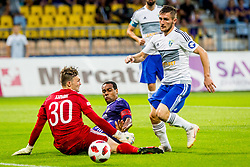 Marcos Magno Morales Tavares of NK Maribor vs  Dino Hamzic of Chikhura during 2nd Leg football match between NK Maribor and FC Chikhura in 2nd Qualifying Round of UEFA Europa League 2018/19, on August 2, 2018 in Ljudski vrt, Maribor, Slovenia. Photo by Ziga Zupan / Sportida