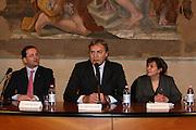 """BOLOGNA, 22/02/2009<br /> FEDERAZIONE ITALIANA PALLACANESTRO PREMIO <br /> PREMIO """"ITALIA BASKET HALL OF FAME""""<br /> NELLA FOTO PATRICK BAUMANN DINO MENEGHIN A. PATULLO"""