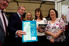 Taoiseach Enda Kenny at Laois Partnership Company Stand at The National Ploughing Championships 2014