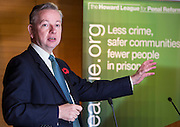 Michael Gove MP, Lord Chancellor and Secretary of State for Justice. Speaking at the Howard League for Penal reform AGM held at the Kings fund. 4th November 2015.