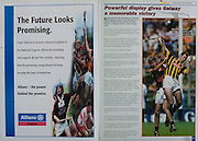 All Ireland Senior Hurling Championship Final,.09.09.2001, 9th September 2001,.Minor Cork 2-10, Galway 1-8,.Senior Tipperary 2-18, Galway 2-15,  .09092001AISHCF,.Allianz Leagues,