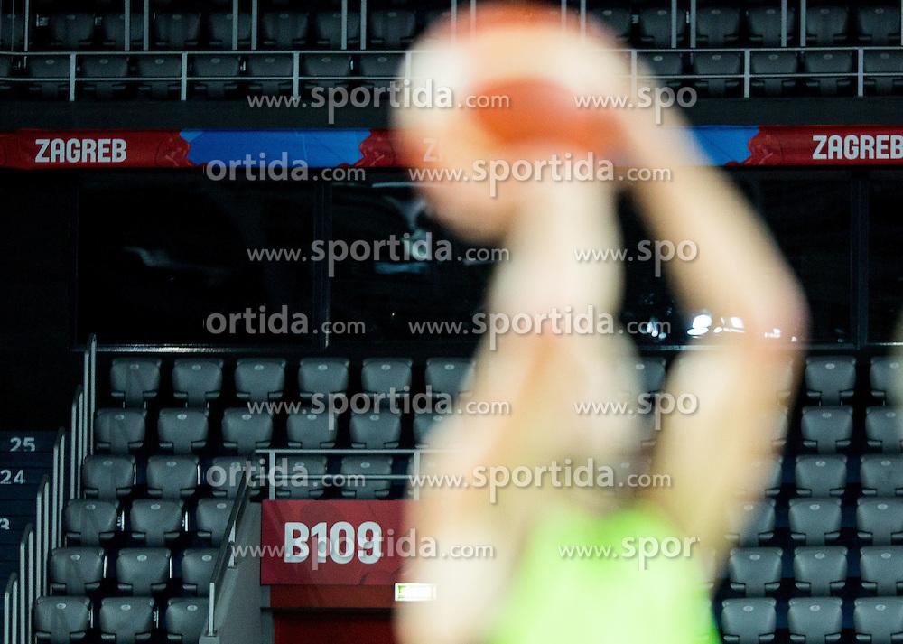 Practice session of Slovenia National Basketball Team 1 day prior to the FIBA Europe Eurobasket 2015, on September 4, 2015, in Arena Zagreb, Croatia. Photo by Vid Ponikvar / Sportida