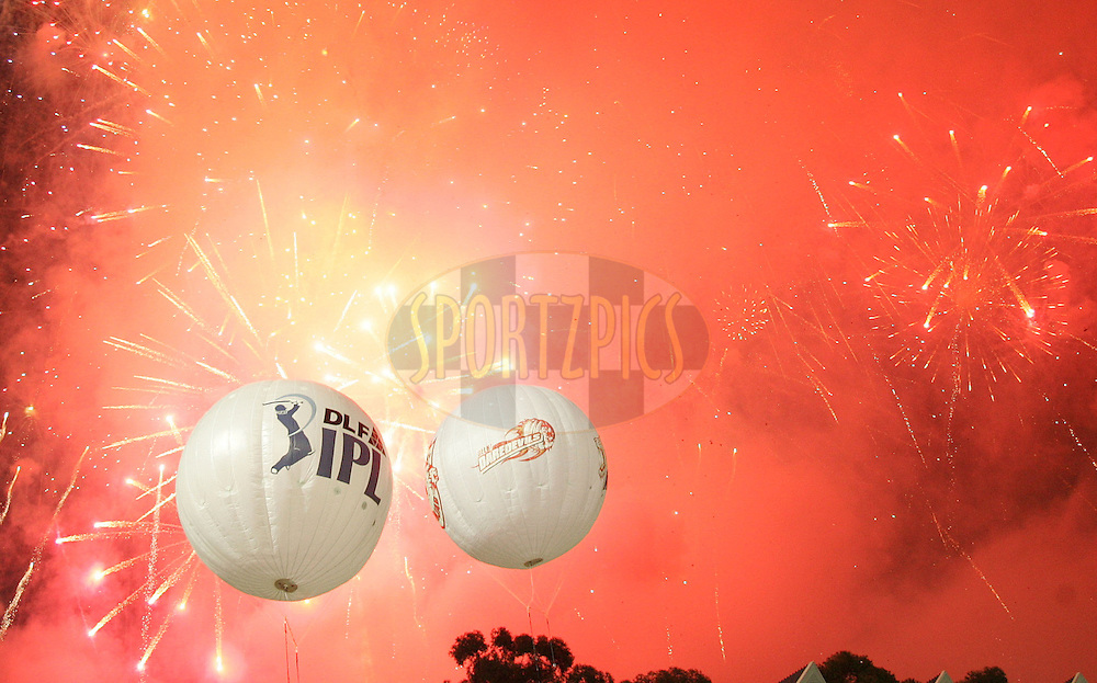 JOHANNESBURG, SOUTH AFRICA - 24 May 2009. Fireworks celebrate the end of the IPL Season 2 Final between the Royal Challengers Bangalore and the Deccan Chargers held at The Wanderers Stadium in Johannesburg, South Africa..