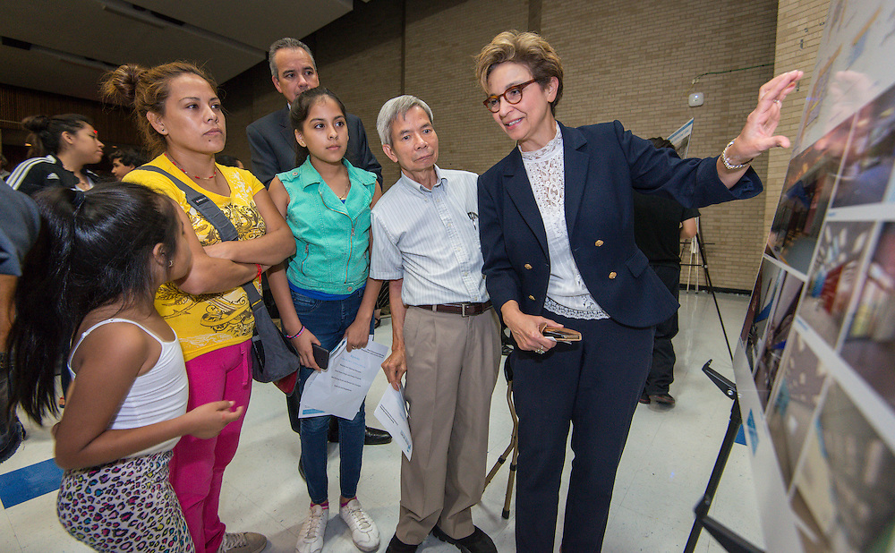 Bond community meeting at Sharpstown International School, October 6, 2015.