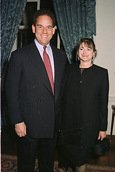 MR & MRS CHRISTOPHER RODRIQUES, chief executive of the Bradford & Bingley Building Society, at a reception in London on April 9th 1997.LXN 22