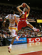 Indiana recruit Eric Gordon goes up for a layup during action in the McDonald's All American High School Basketball Team games at Freedom Hall in Louisville, Kentucky on March 28, 2007.