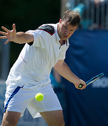 LIVERPOOL, ENGLAND - Sunday, June 19, 2011: Barry Cowan (GBR) in action during day four of the Liverpool International Tennis Tournament at Calderstones Park. (Pic by David Rawcliffe/Propaganda)