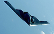 A B-2 Spirit heads home after flying a mission over Iraq in support of Operation Iraqi Freedom on March 27.  USAF Owen DB