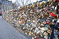 Love Padlock Wall in Paris