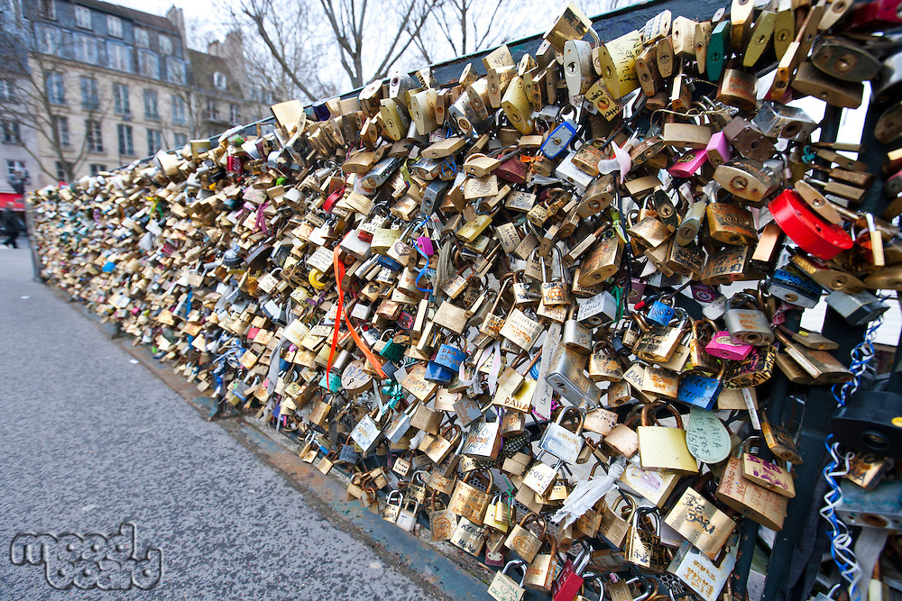 Love Padlock Wall in Paris