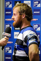 Bath Full Back Nick Abendanon is interviewed after his sides loss - mandatory by-line: Rogan Thomson/JMP - Tel: 07966 386802 - 23/05/2014 - SPORT - RUGBY UNION - Cardiff Arms Park, Wales - Bath Rugby v Northampton Saints - Amlin Challenge Cup Final.
