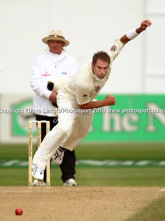Australian bowler Ryan Harris.<br /> 1st cricket test match - New Zealand Black Caps v Australia, day two at the Basin Reserve, Wellington.Saturday, 20 March 2010. Photo: Dave Lintott/PHOTOSPORT