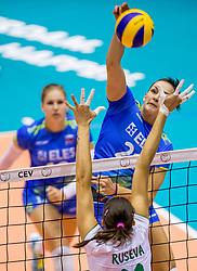 22-08-2017 NED: World Qualifications Slovenia - Bulgaria, Rotterdam<br /> Bulgaria win 3-1 against Slovenia / Tina Grudina #21 of Slovenia
