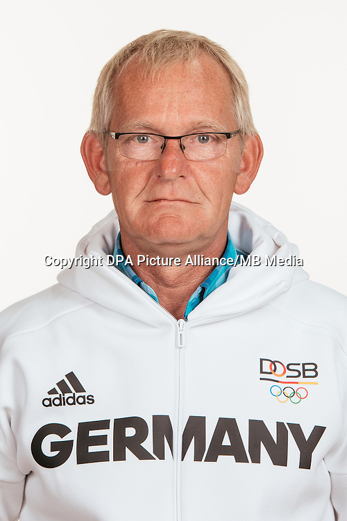 Heinrich Hermann Engemann poses at a photocall during the preparations for the Olympic Games in Rio at the Emmich Cambrai Barracks in Hanover, Germany, taken on 18/07/16 | usage worldwide