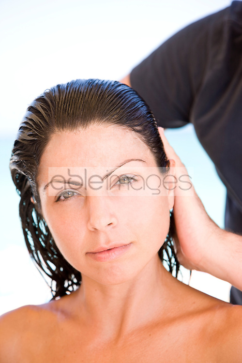 Young Woman Having Hair Styled