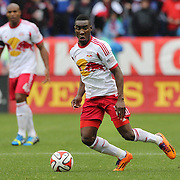 Lloyd Sam, New York Red Bulls, in action during the New York Red Bulls V Chivas USA, Major League Soccer regular season match at Red Bull Arena, Harrison, New Jersey. USA. 30th March 2014. Photo Tim Clayton