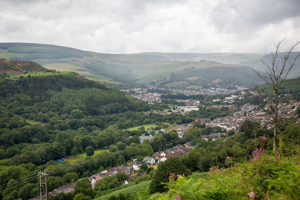 Landscape of Pentre village in the Rhondda Valley, South Wales, UK.  (photo by Andrew Aitchison / In pictures via Getty Images)