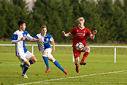 BLACKBURN, ENGLAND - Saturday, January 6, 2018: Liverpool's Edvard Sandvik Tagseth during an Under-18 FA Premier League match between Blackburn Rovers FC and Liverpool FC at Brockhall Village Training Ground. (Pic by David Rawcliffe/Propaganda)