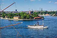 Ångbåten Norrskär vid Kastellholmen  i Stockholms inlopp
