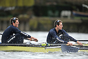 Putney, GREAT BRITAIN,  Left Tyler and right Cameron WINKLEVOSS  during the  2010  Varsity/Oxford University  vs Leander Club, raced over the championship course. Putney to Mortlake, Sat. 20.03.2010. [Mandatory Credit, Peter Spurrier/Intersport-images]