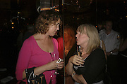Ursula Doyle and Caroline Gasgoigne, publication party for Bill Buford and his memoir HEAT. Hosted by Marco Pierre White at 'Frankie's. Knightsbridge. 10 July 2006. ONE TIME USE ONLY - DO NOT ARCHIVE  © Copyright Photograph by Dafydd Jones 66 Stockwell Park Rd. London SW9 0DA Tel 020 7733 0108 www.dafjones.com