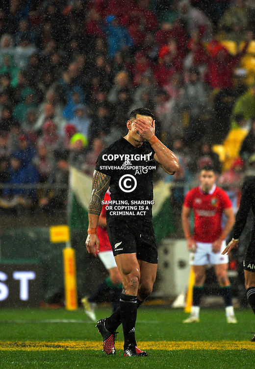 Sonny Bill Williams is sent off during the 2017 DHL Lions Series 2nd test rugby match between the NZ All Blacks and British & Irish Lions at Westpac Stadium in Wellington, New Zealand on Saturday, 1 July 2017. Photo: Dave Lintott / lintottphoto.co.nz