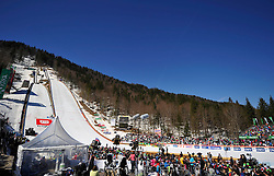 20.03.2014, Planica, Ratece, SLO, FIS Weltcup Ski Sprung, Planica, Qualifikation, im Bild Uebersicht auf die Grossschanze, Planica // Uebersicht auf die Grossschanze, Planica during the qualifikation of the mens individual large Hill of the FIS Ski jumping Worldcup Cup finals at Planica in Ratece, Slovenia on 2014/03/20. EXPA Pictures © 2014, PhotoCredit: EXPA/ Newspix/ Irek Dorozanski<br /> <br /> *****ATTENTION - for AUT, SLO, CRO, SRB, BIH, MAZ, TUR, SUI, SWE only*****